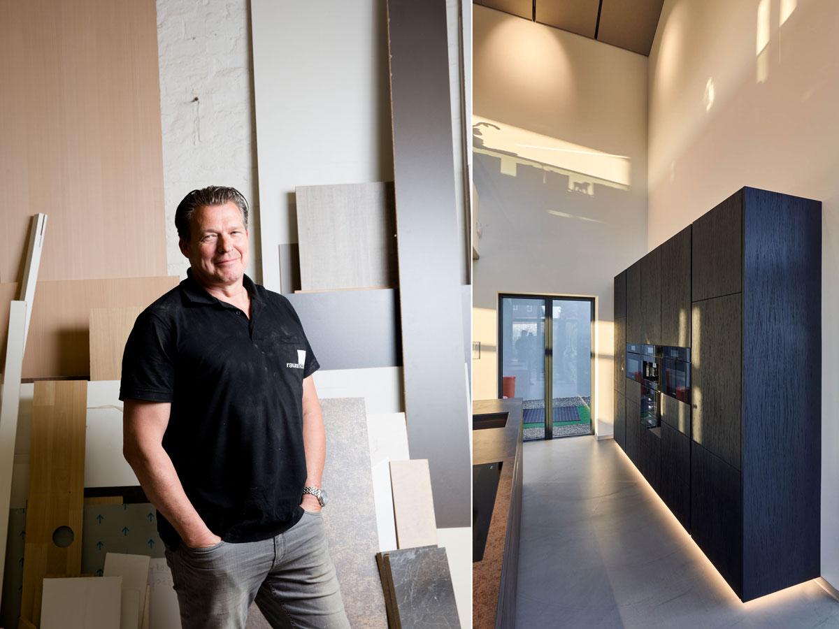 raumideen Schreinermeister Stefan Huber und ein von ihm gefertigter Küchenblock