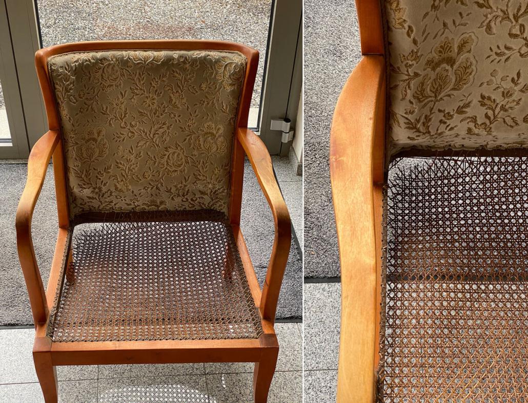 Stuhl zur Reparatur der Sitzfläche