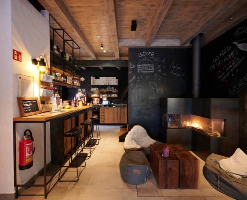 Restaurantgestaltung Wilde Ente Tafelwand
