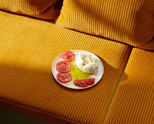 Stilwerkhotels Heimhude Frühstücksraum Kordstoff: kvadrat c stilwerk Foto: T. Baermann