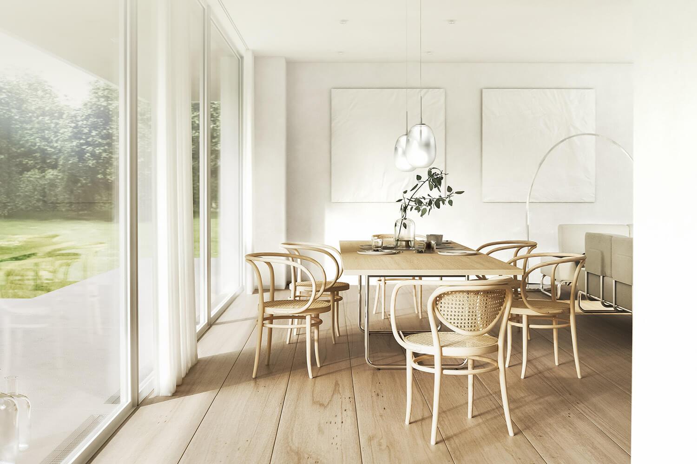 Headergrafik Esstisch und Stühle von Thonet Icons of Dining